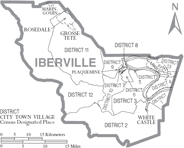File Map Of Iberville Parish Louisiana With Municipal And District
