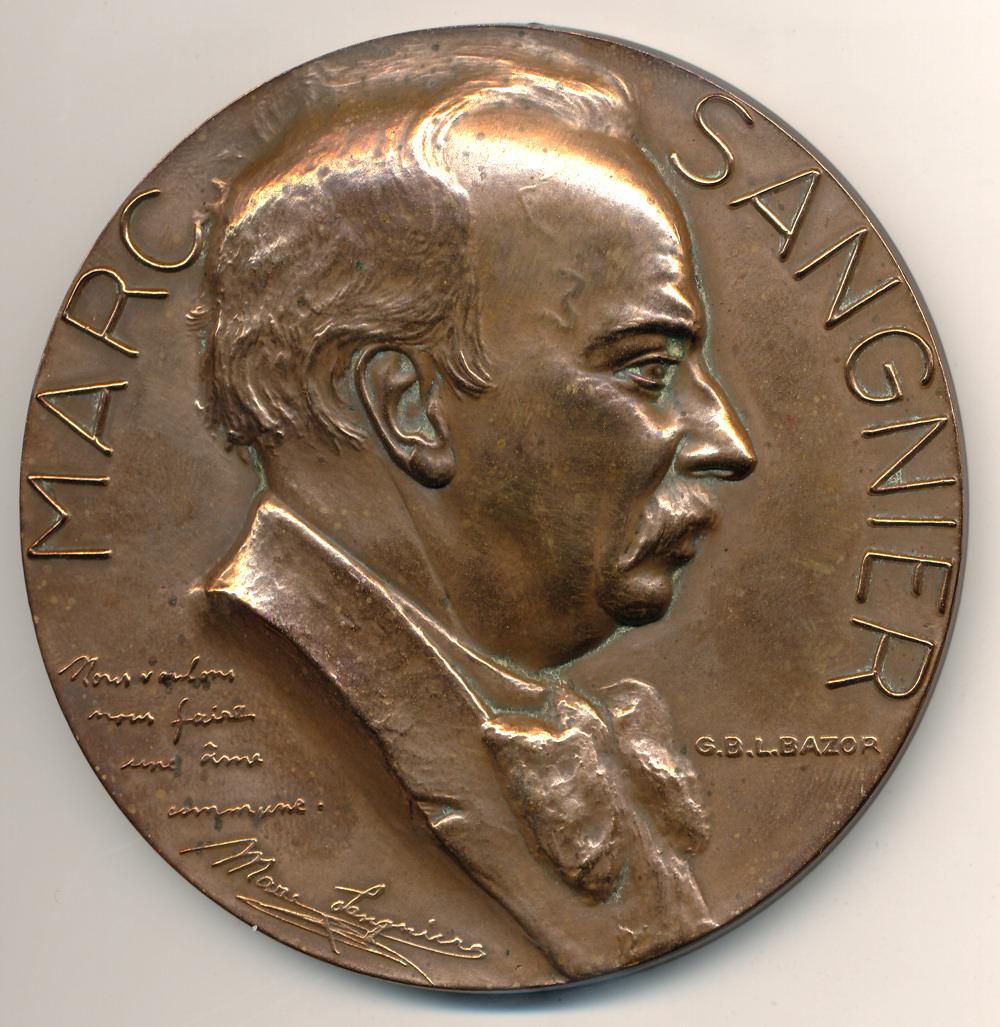 A medallion commemorating Sangnier