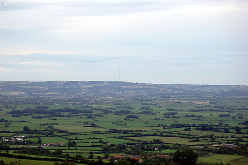 Mendip Hills from Glastonbury Tor 2