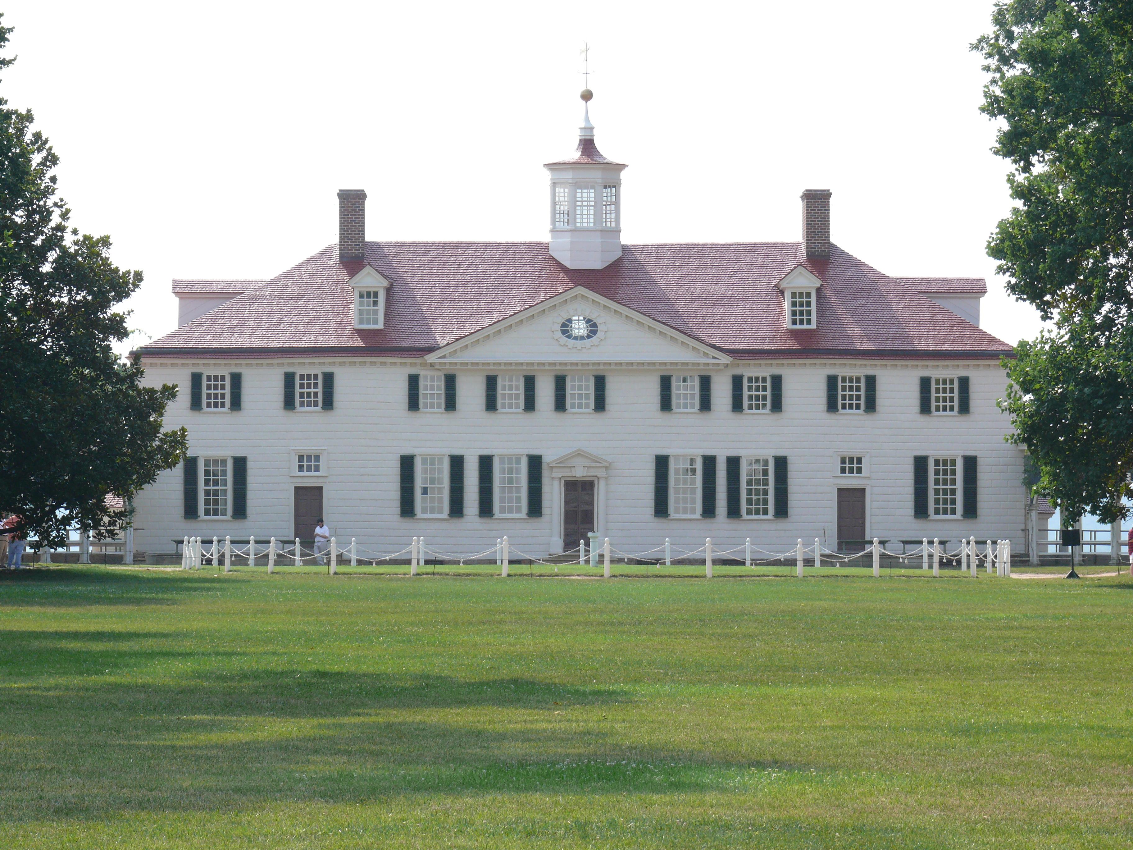 Photo of George Washington's Mount Vernon estate