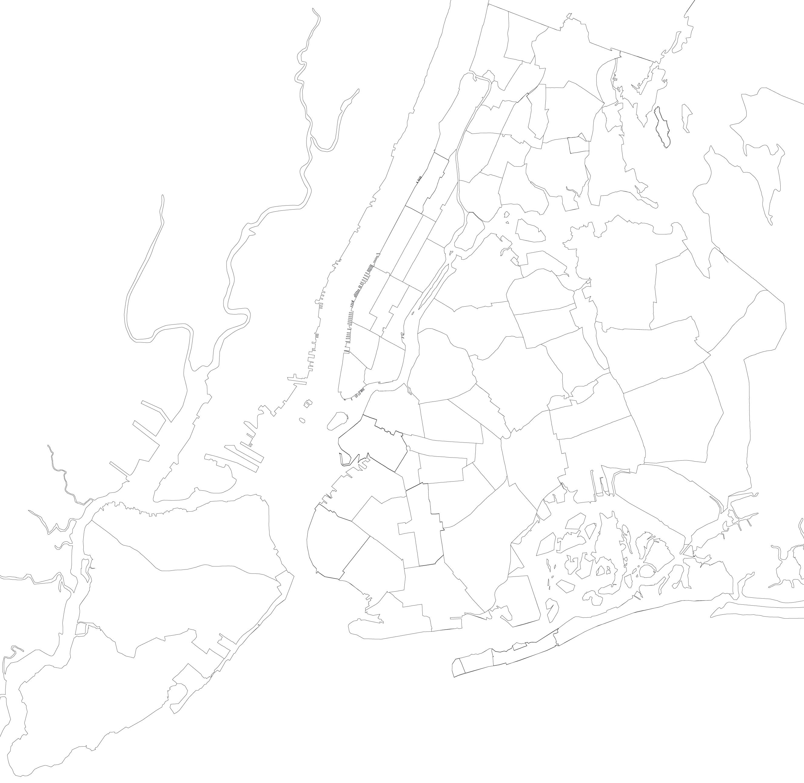 Pin New York Blank Map On Pinterest