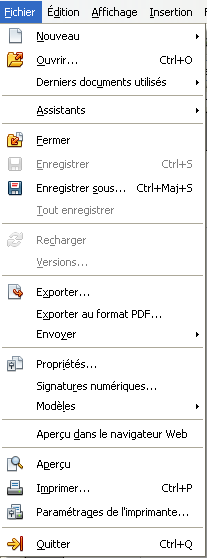 OpenOffice 3.3 French menu fichier.png