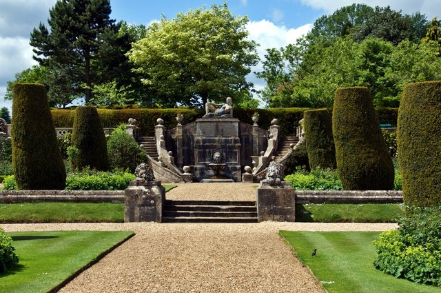 Ornamental Fountain, Bowood House Gardens - geograph.org.uk - 1572436