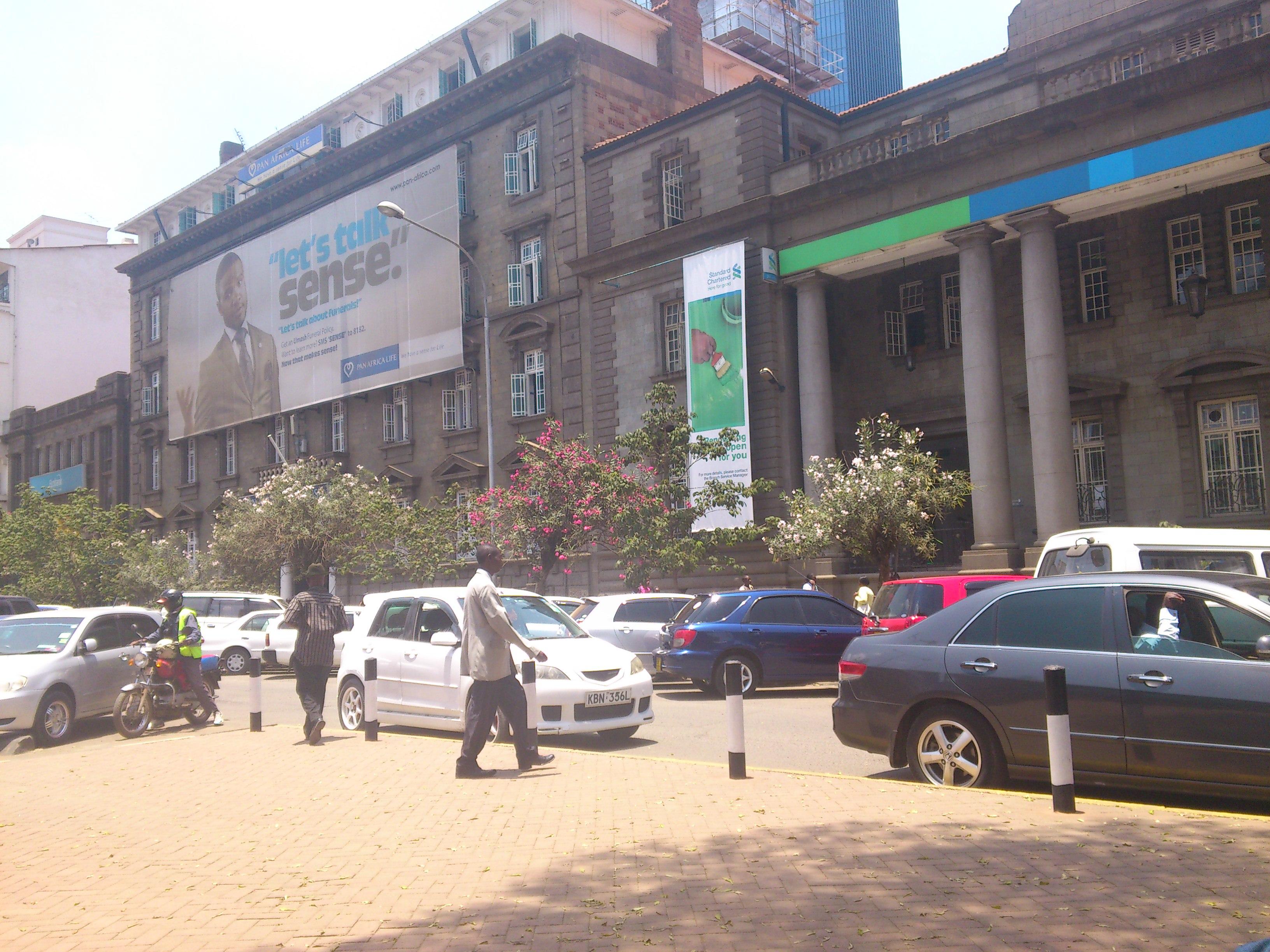 I & M building in Nairobi, tilt down to Kenyatta Avenue, Kenya ...