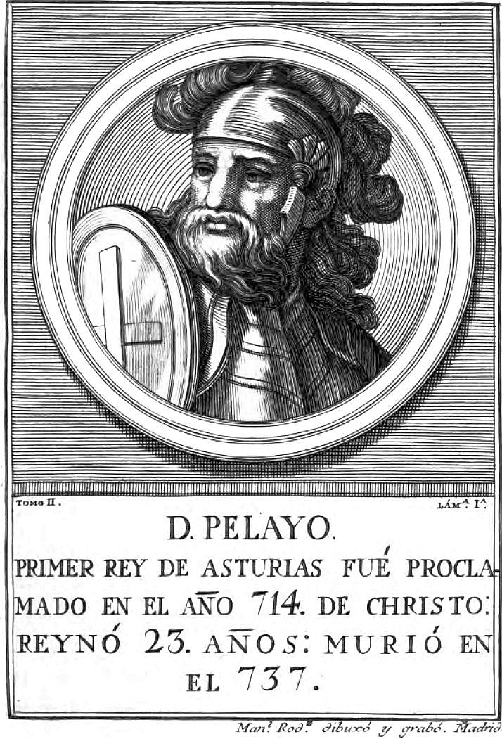 Grabado de Don Pelayo