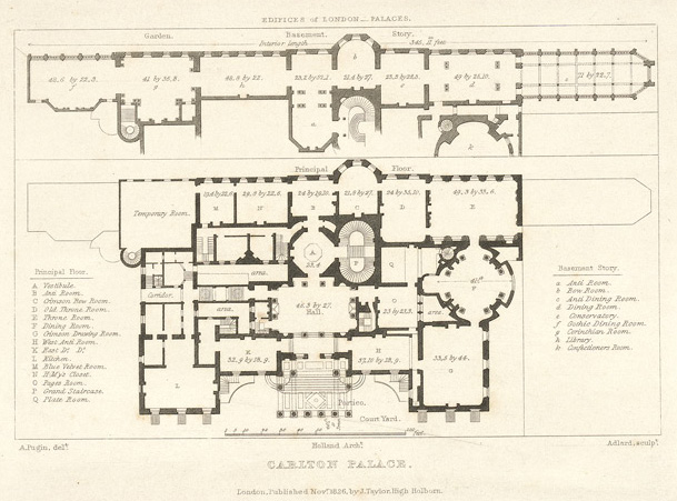 File plan of carlton palace in wikimedia commons for Palace plan