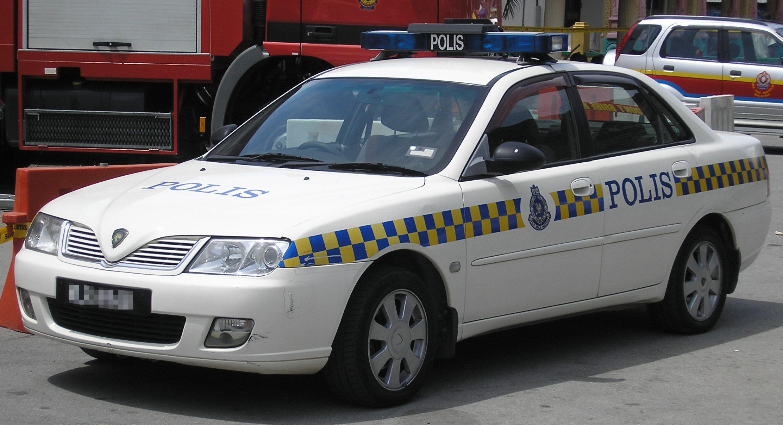 file proton waja royal malaysian police patrol car