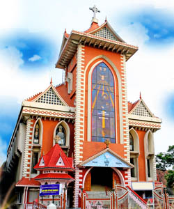 St. Mary, Queen of Peace Basilica Church in Kerala, Republic of India