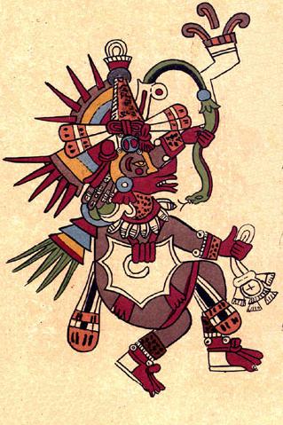 Représentation de Quetzalcoatl (Codex Borbonicus, p.22)