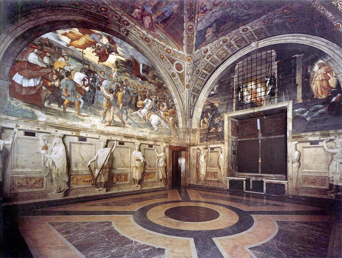 Stanza di eliodoro wikipedia for Decorazione stanze vaticane