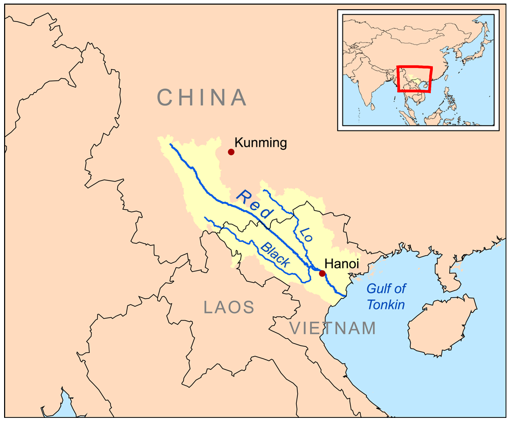 Xi Jiang River Map