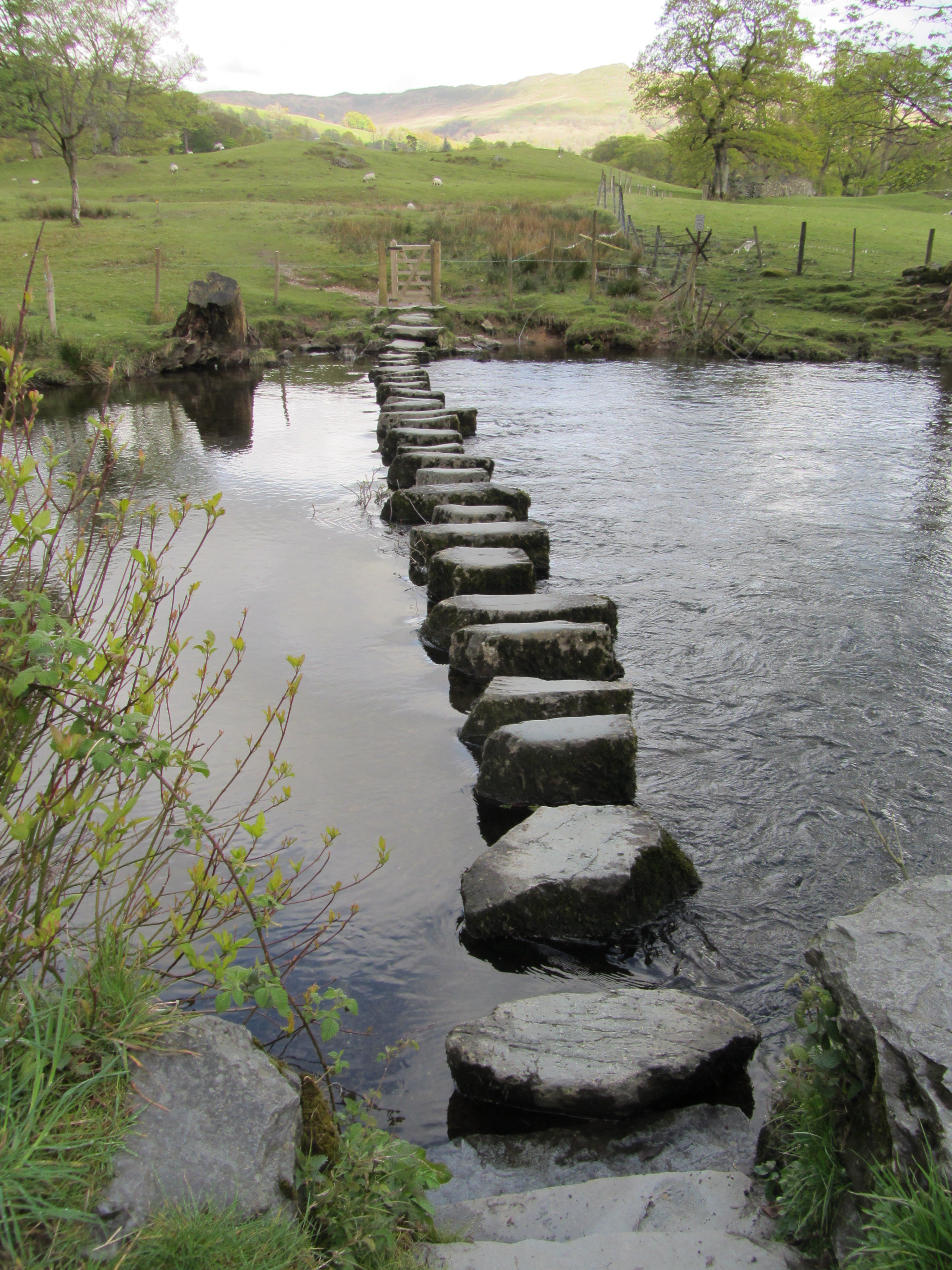 Stepping stones at the River Rothay