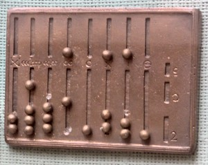 Reconstruction of a Roman Abacus, made by the ...