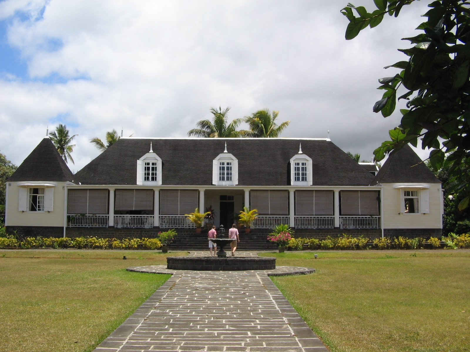 House of Saint-Aubin (Mauritius). Stage on the Route du Thé. Picture via Wikimedia Commons, CC by SA.