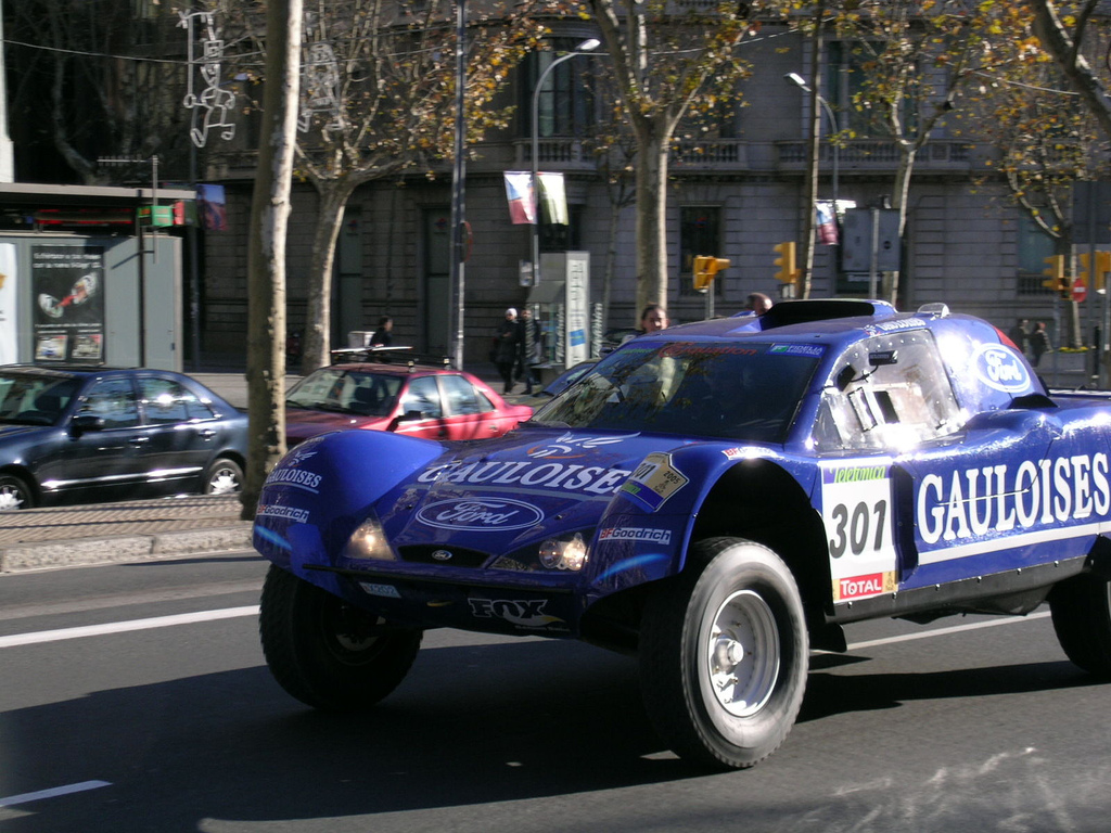 Ford Rallye Car In The S