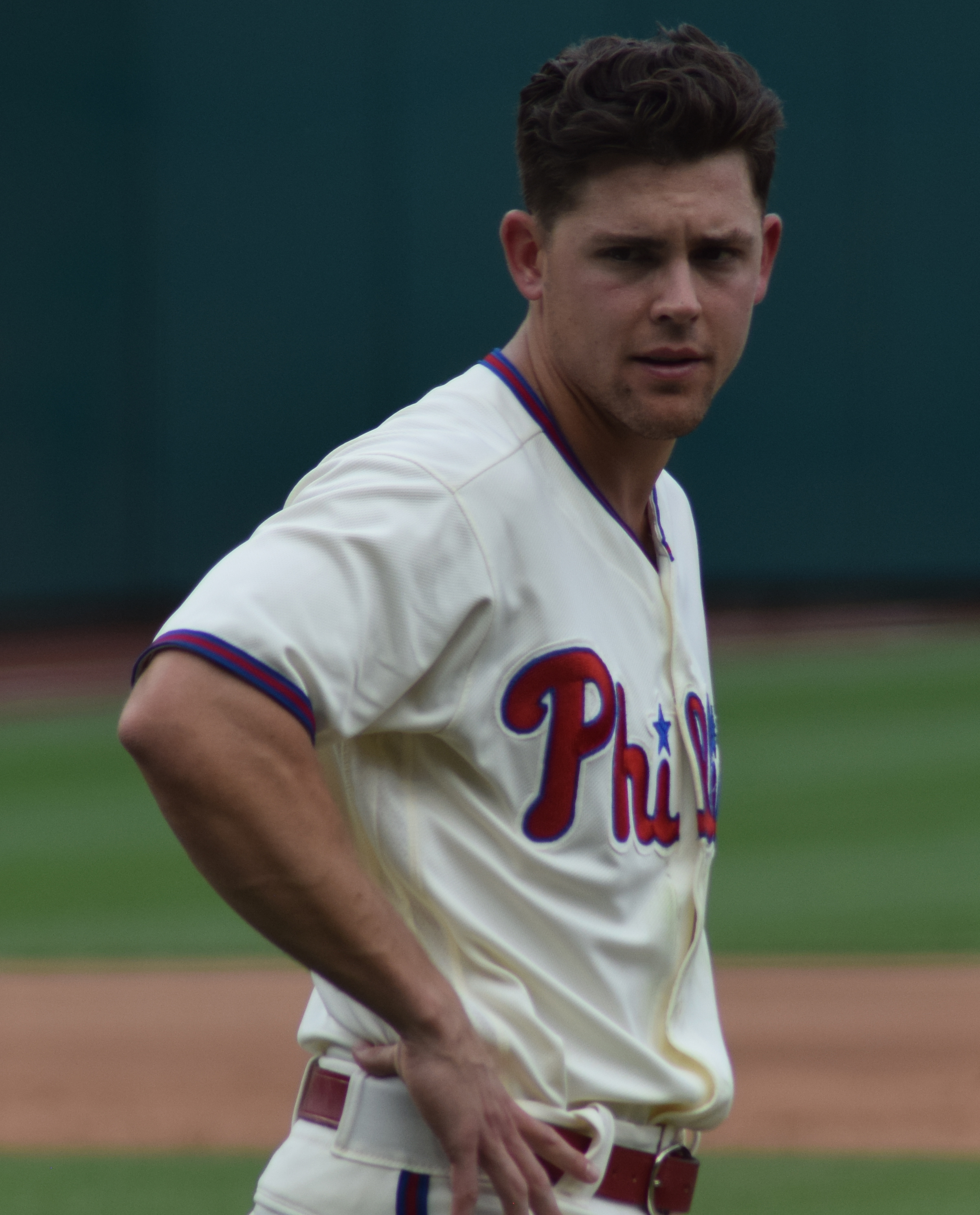 August 16, 2019 -- Led by starting pitcher Vince Velasquez, the Phillies defeated the Padres at home, 8 to 4. The Phillies pitching was helped by Logan Morrison on offence.