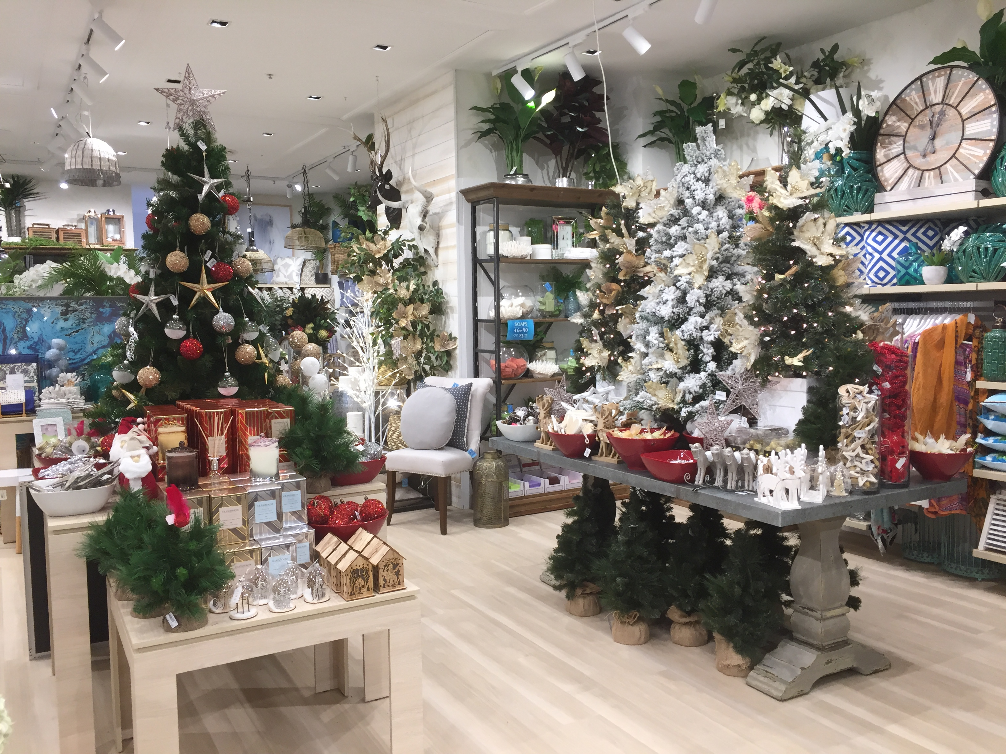 fileshop with christmas decorations indooroopilly shopping centre queensland australiajpg