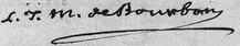 File:Signature of Louis Jean Marie de Bourbon, Duke of Penthièvre at the baptism of the Duke of Berry, son of the Count and Countess of Artois (August 1785).png