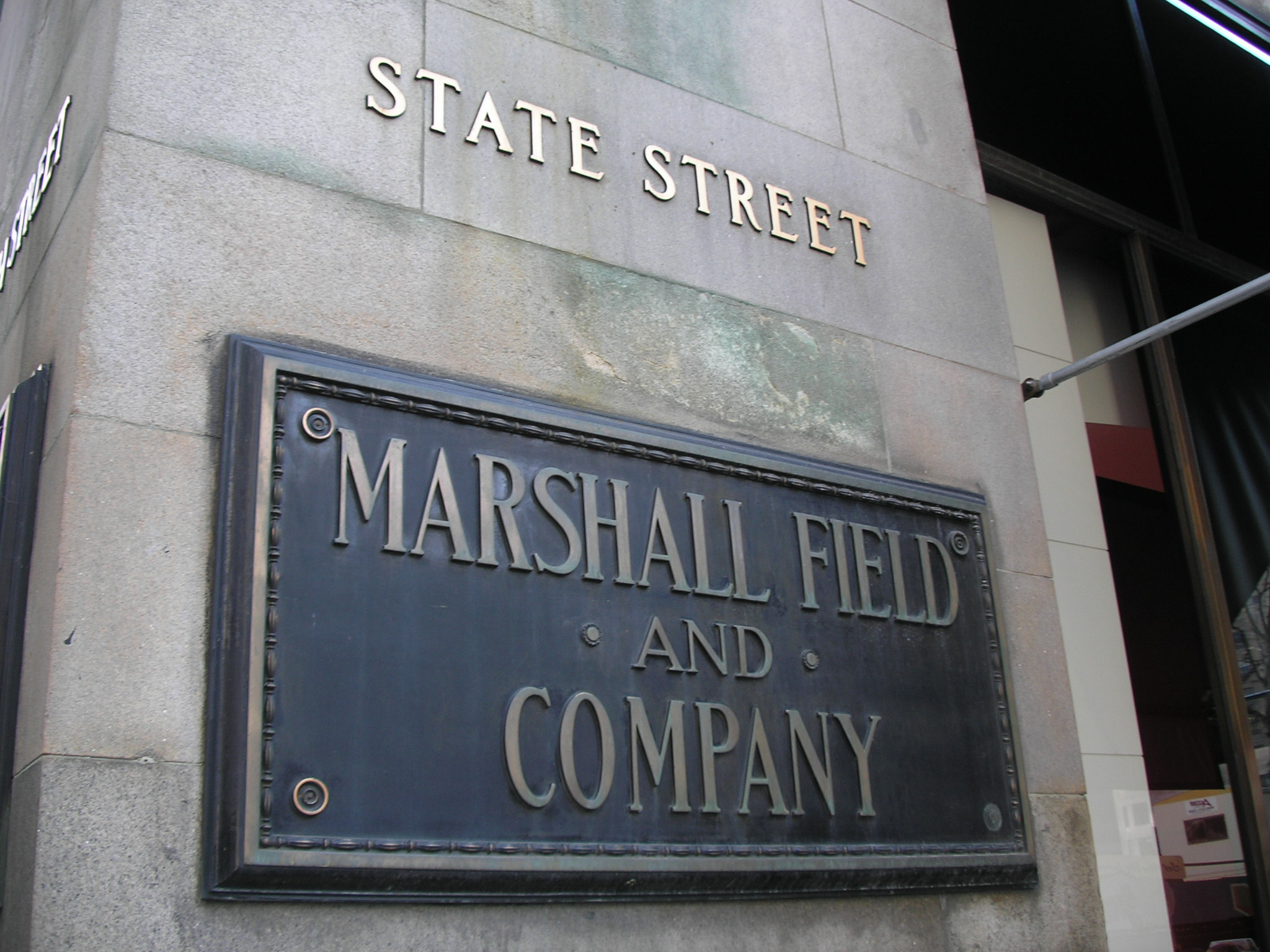 State street sign of marshall field's