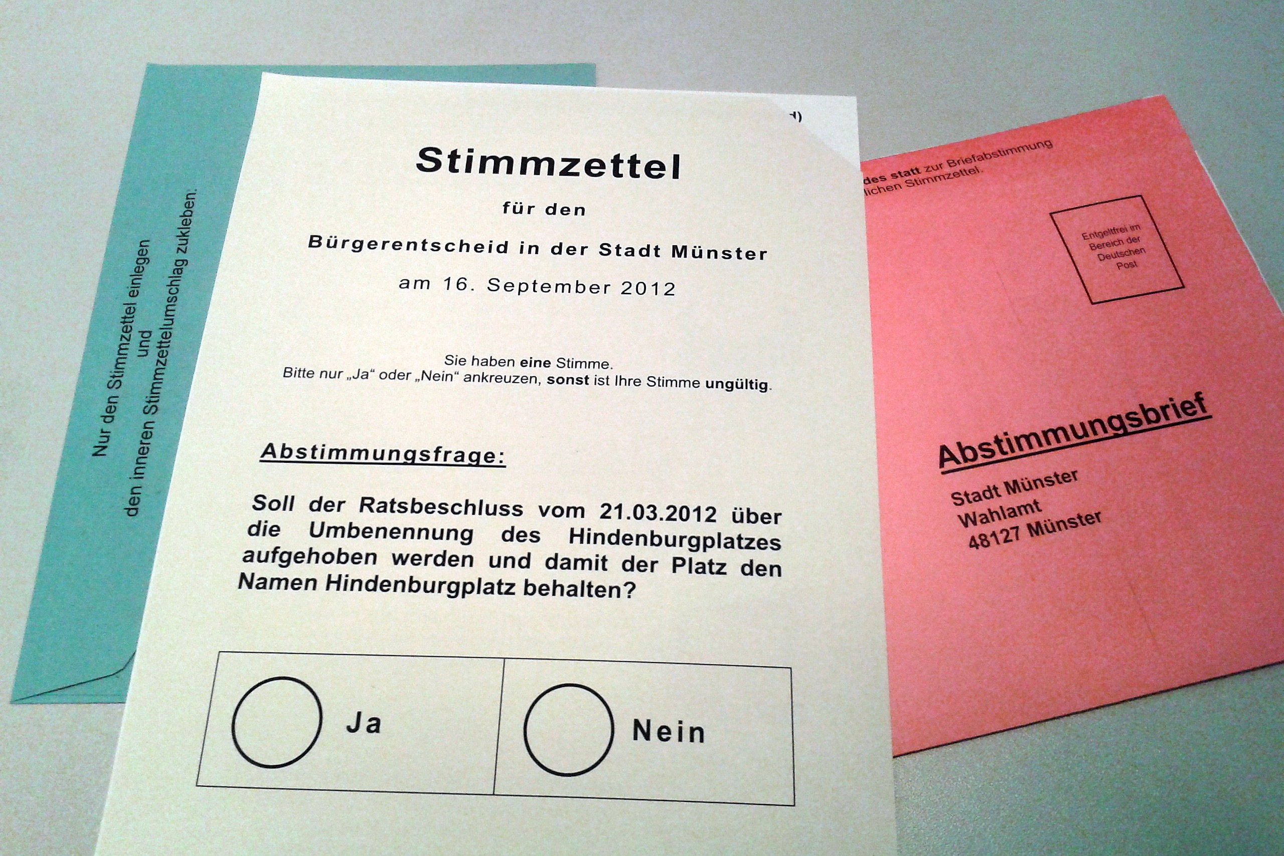 German ballot 2012