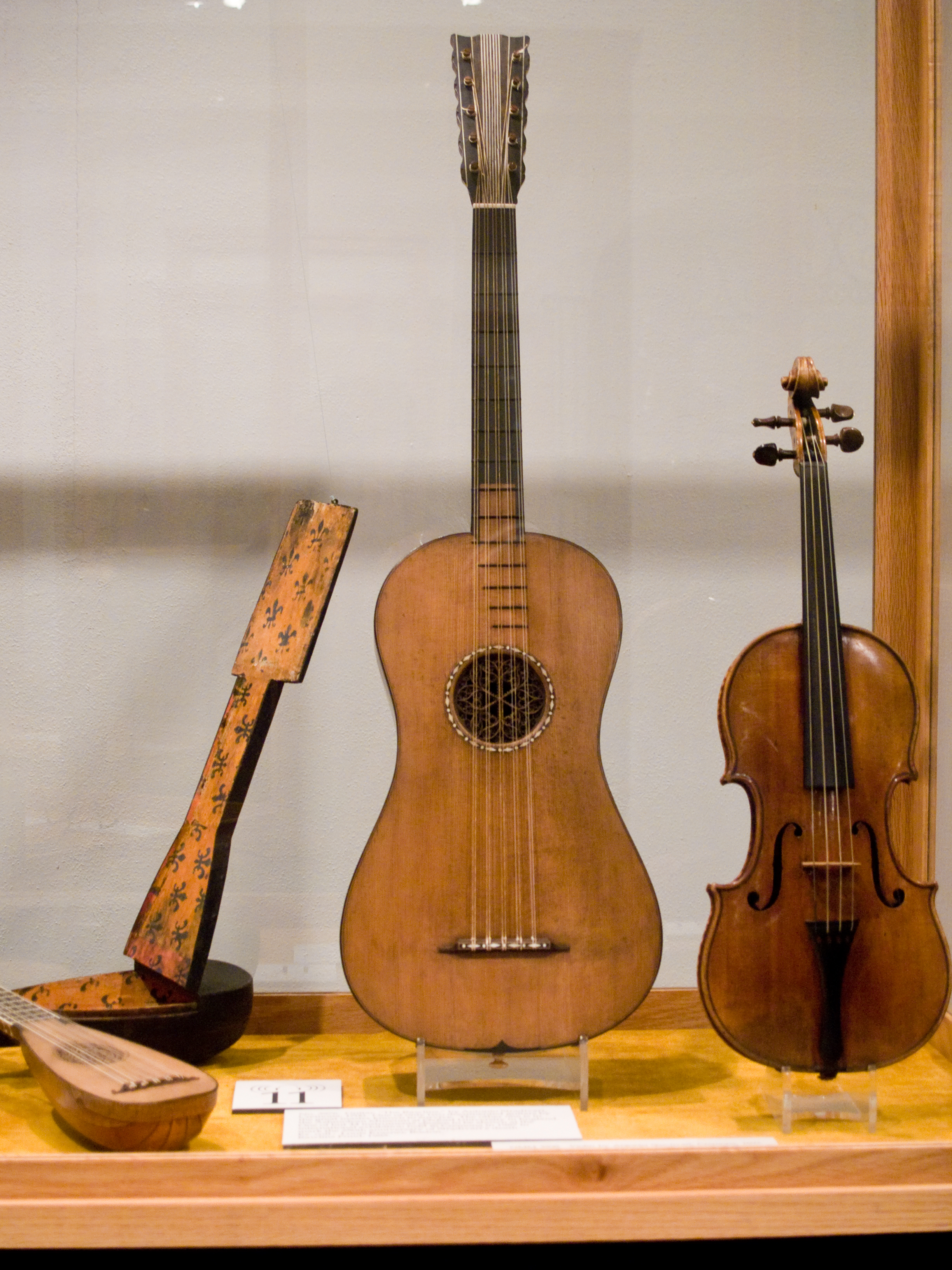 File:Stradavarius Guitar, violin, mandolin and case, National ...
