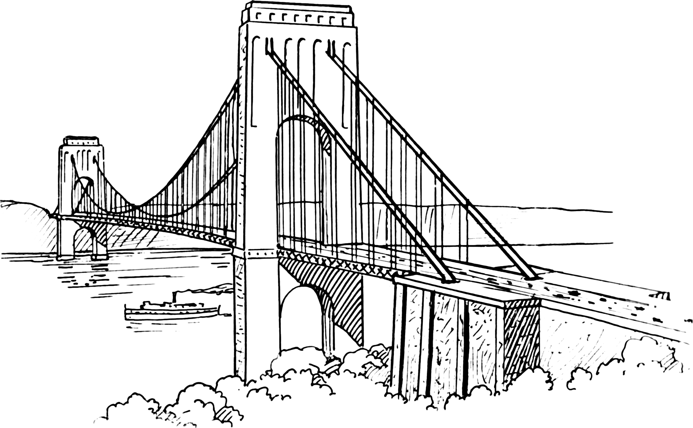 brooklyn bridge coloring pages - photo#10