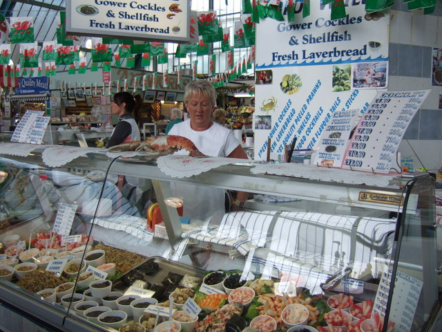 File:Swansea market seafood stall - geograph.org.uk - 220160.jpg