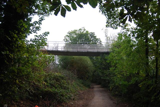 The Millennium Bridge crosses the Medway Valley Walk - geograph.org.uk - 1512677