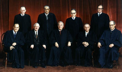The United States Supreme Court membership in 1973.