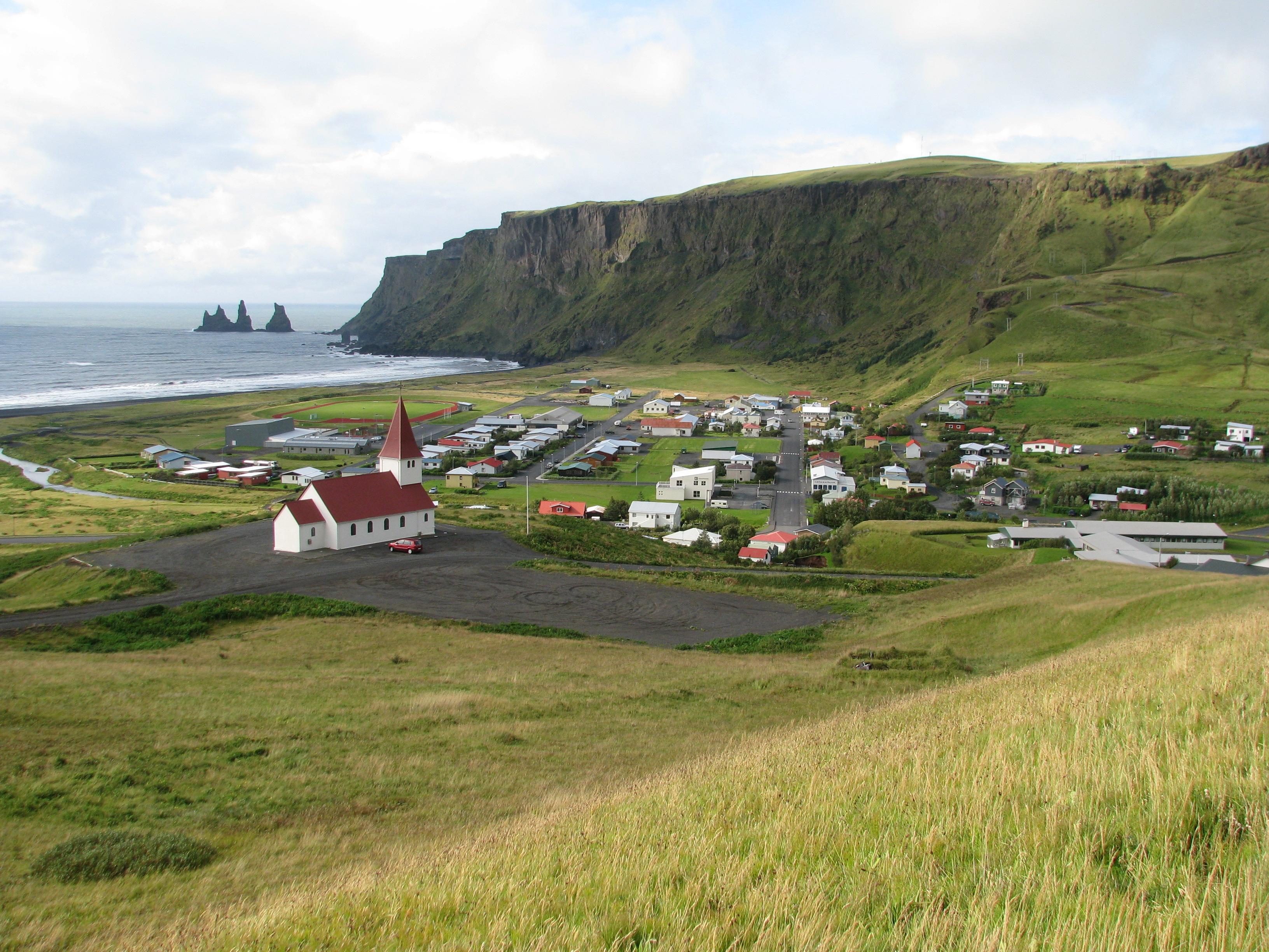 Vík í Mýrdal, regenreichster Ort Islands außerhalb des Vatnajökull