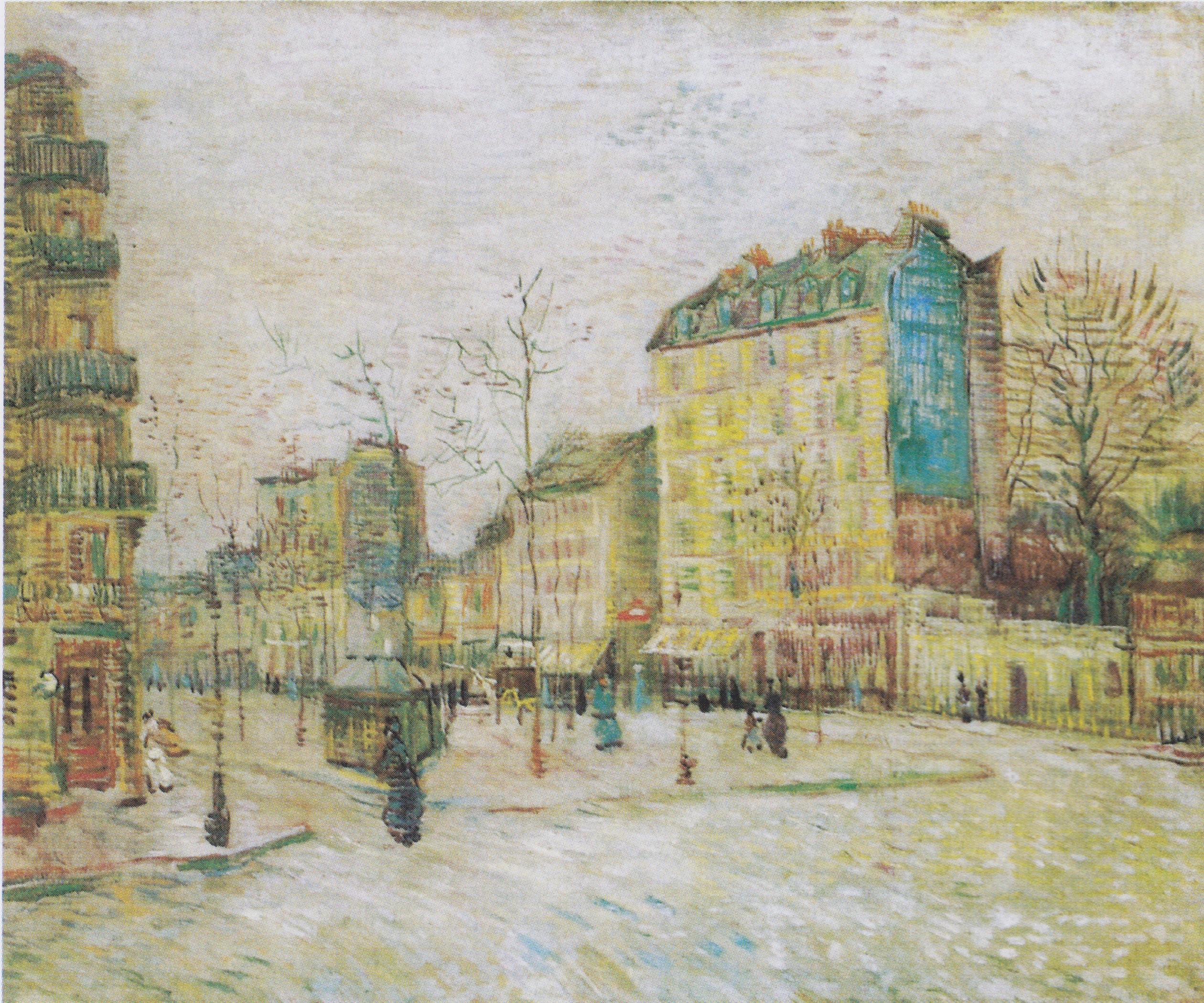 Vincent Van Gogh, Boulevard de Clichy, Paris - 1887, tuval üzerine yağlıboya, 45,5 x 55 cm, Van Gogh Museum