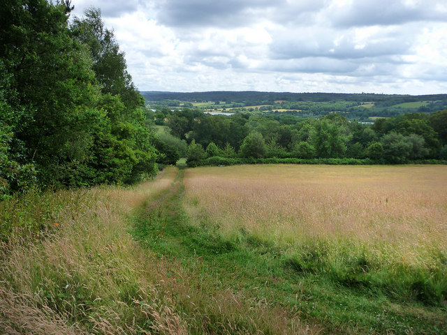 View from upper terrace, Standen - geograph.org.uk - 1443337