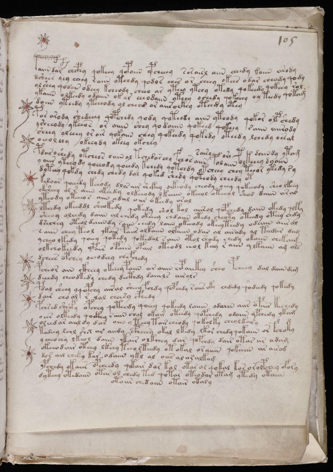 Voynich Manuscript %28187%29 ヴォイニッチ手稿(写本) どの言語にも属さない謎の文字!