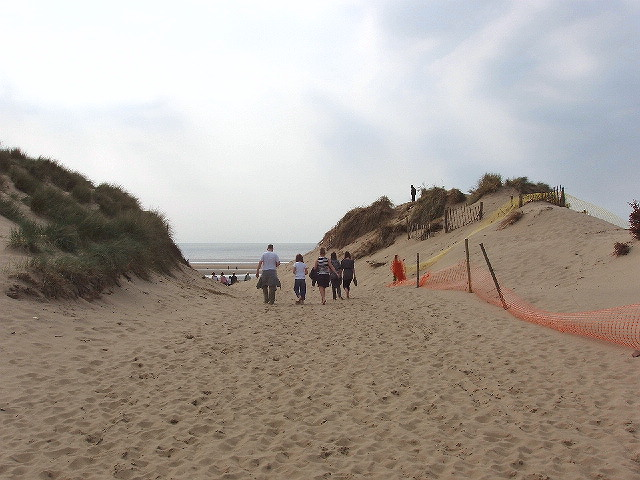 Walking to the beach, Formby - geograph.org.uk - 420392