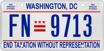 Vehicle registration plates of Washington, D.C. - Wikipedia