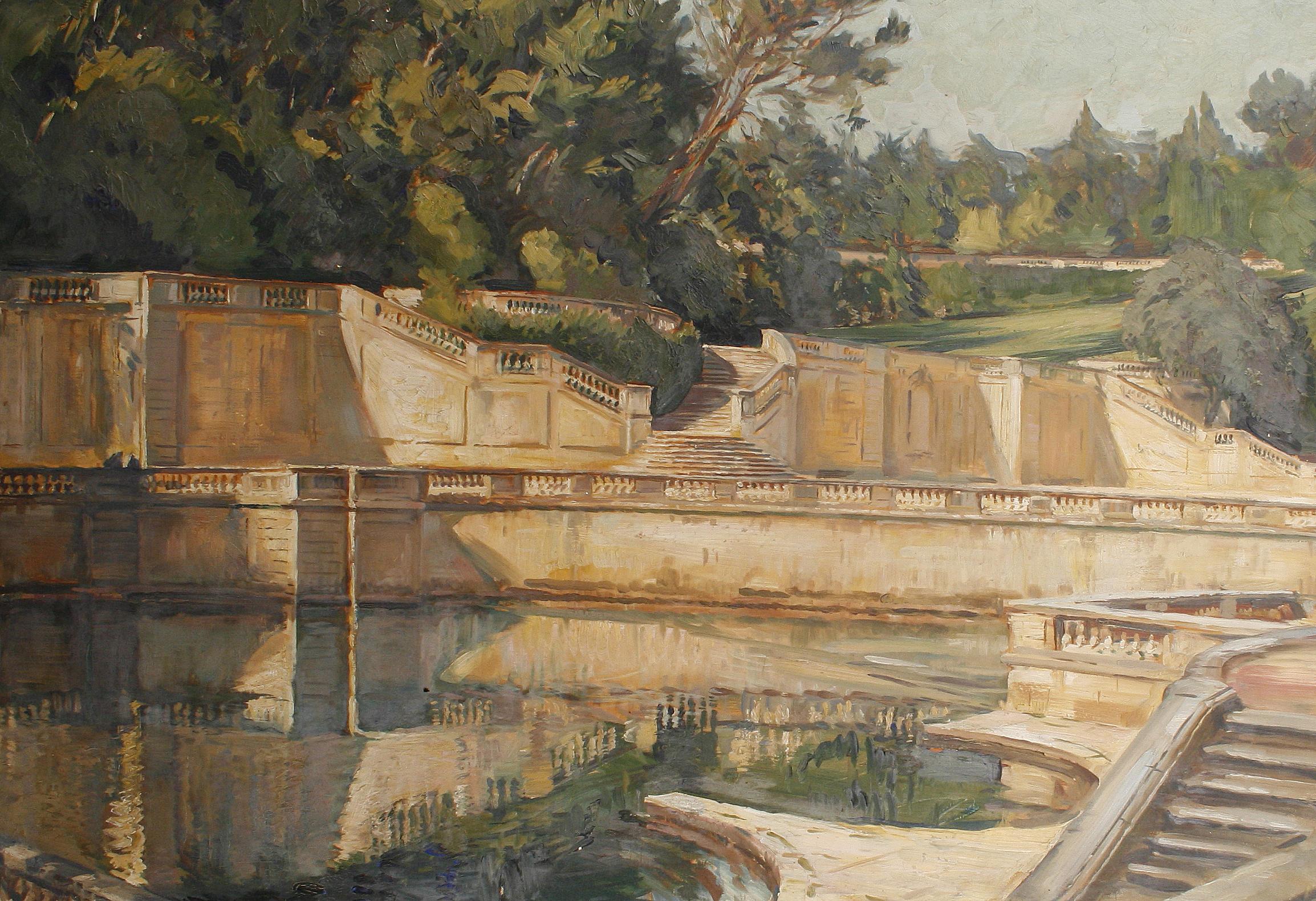 File:William Bruce Ellis Ranken The Roman Gardens at Nîmes.jpg ...