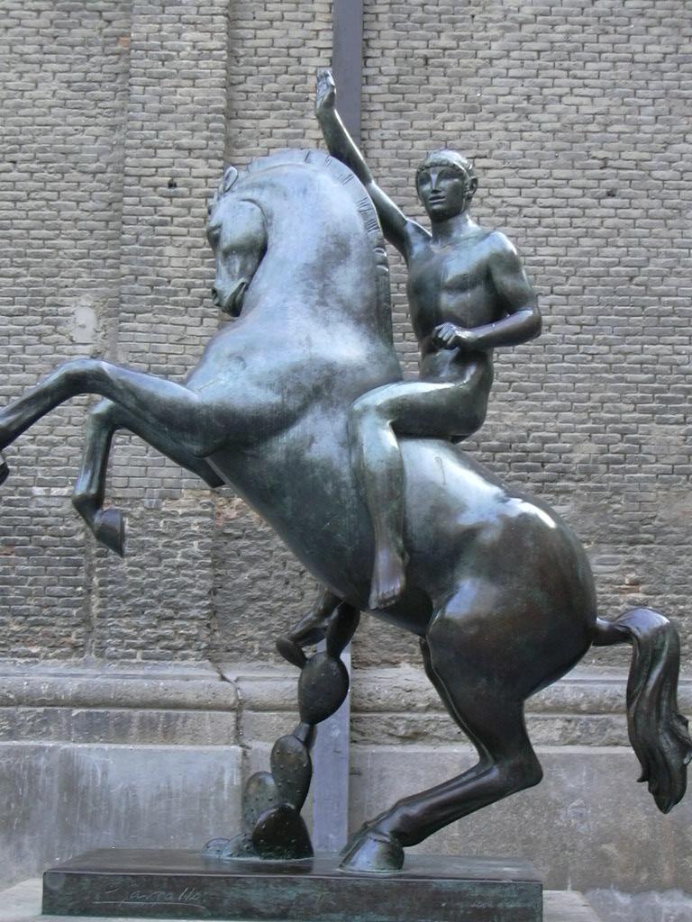 Descripci  243  Zaragoza - Pablo Gargallo - Jinete jpgPablo Gargallo Sculpture