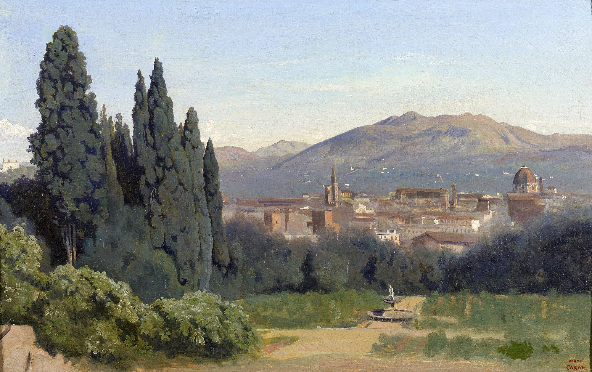 File Florence Vue Prise Des Jardins Boboli By Camille Corot