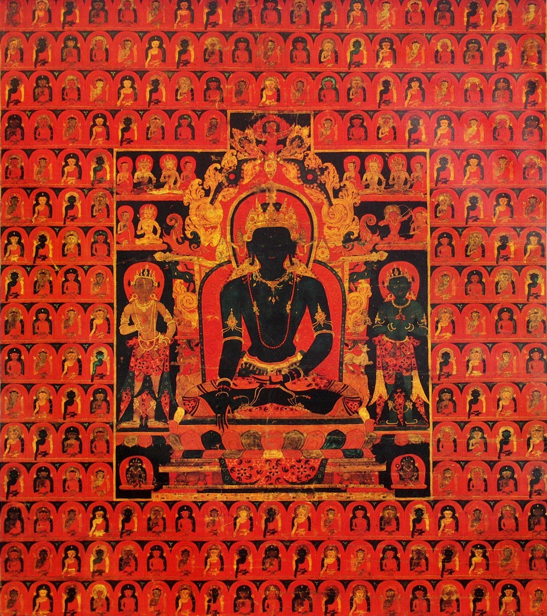 File:'The Dhyani Buddha Akshobhya', Tibetan thangka, late 13th ...