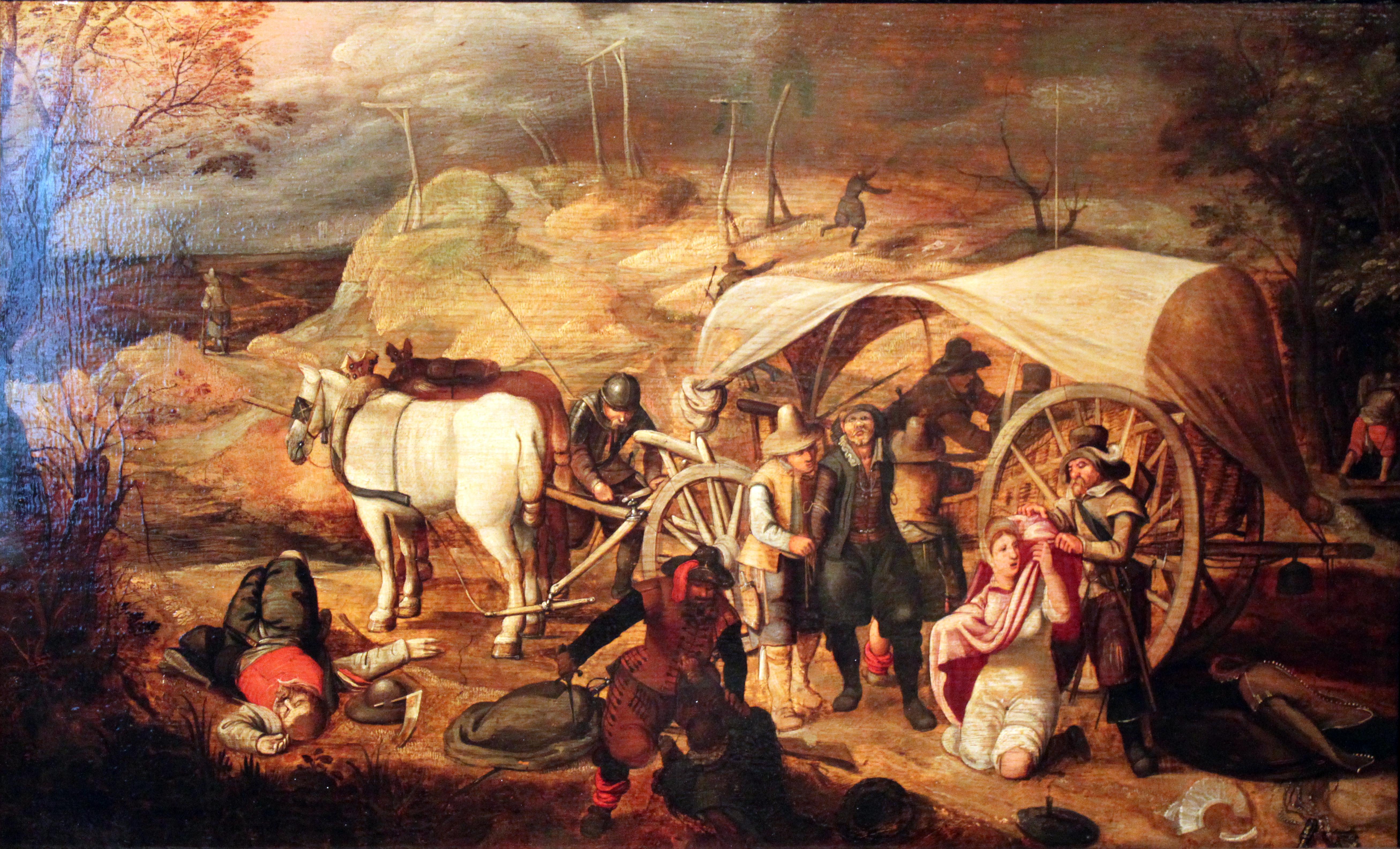 Marauding soldiers, Sebastian Vrancx (1573–1647).