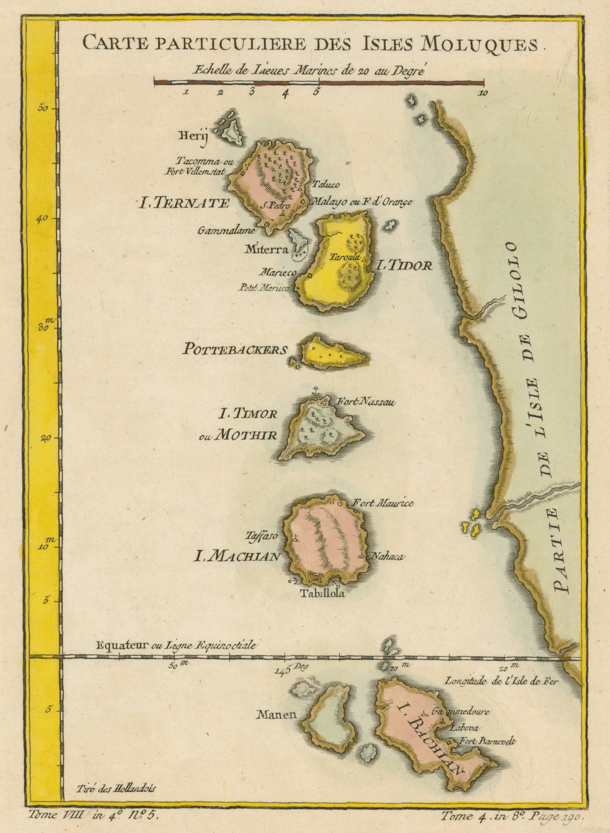 Old Map Moluccan Islands