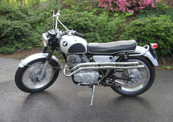 1967 Honda Scrambler 305 motorcycle