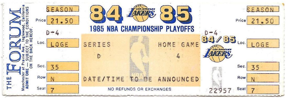 1984–85 Los Angeles Lakers season - Wikipedia