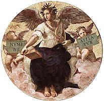 Allegorie der Poesie, Mosaik von Raffael.jpg