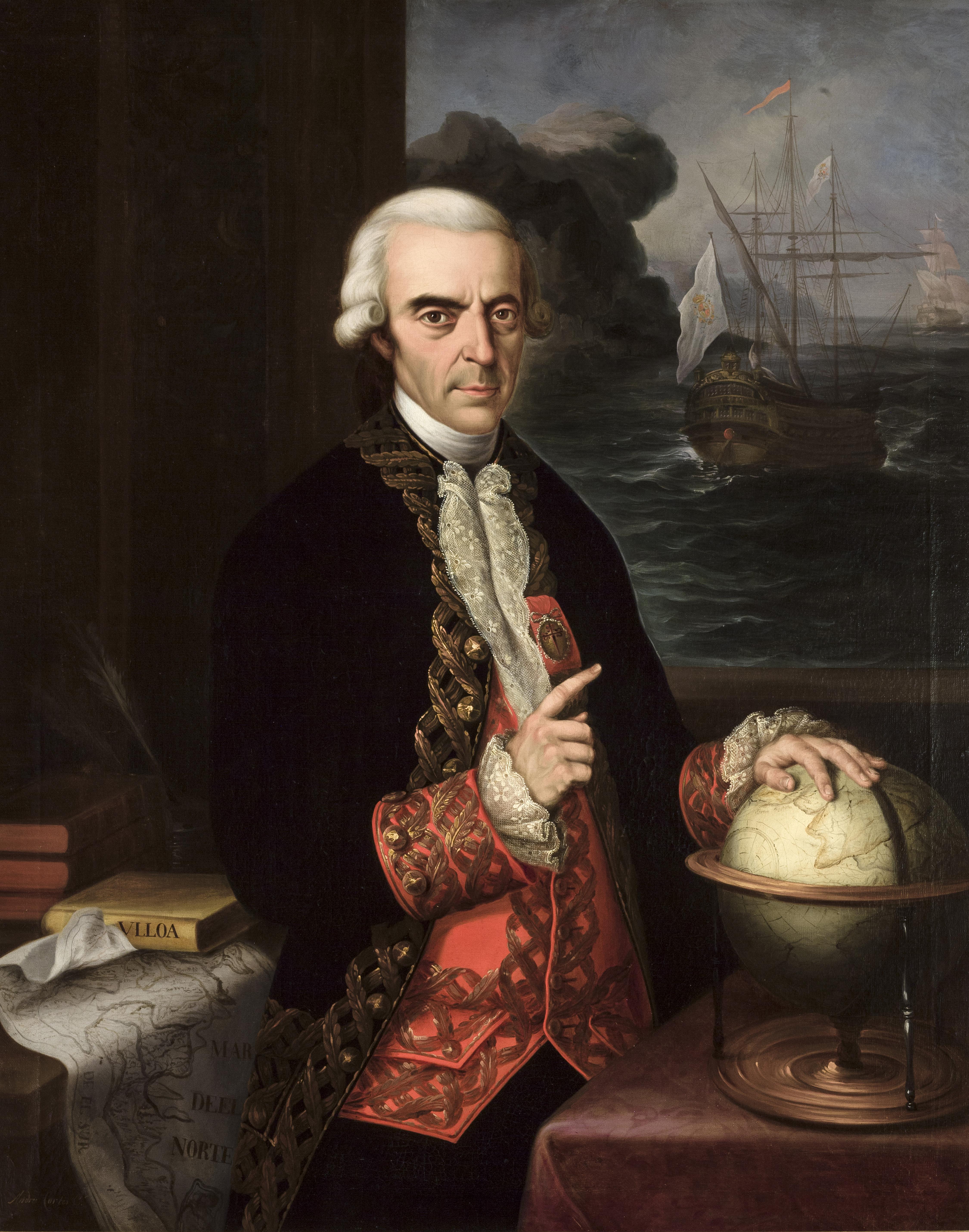 Posthumous portrait by [[Andrés Cortés]] (1856)