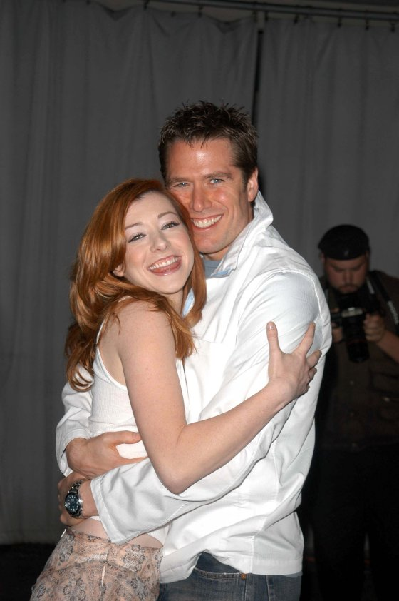 Alyson Hannigan And Alexis Denisof Buffy Denisof with wife Alyson