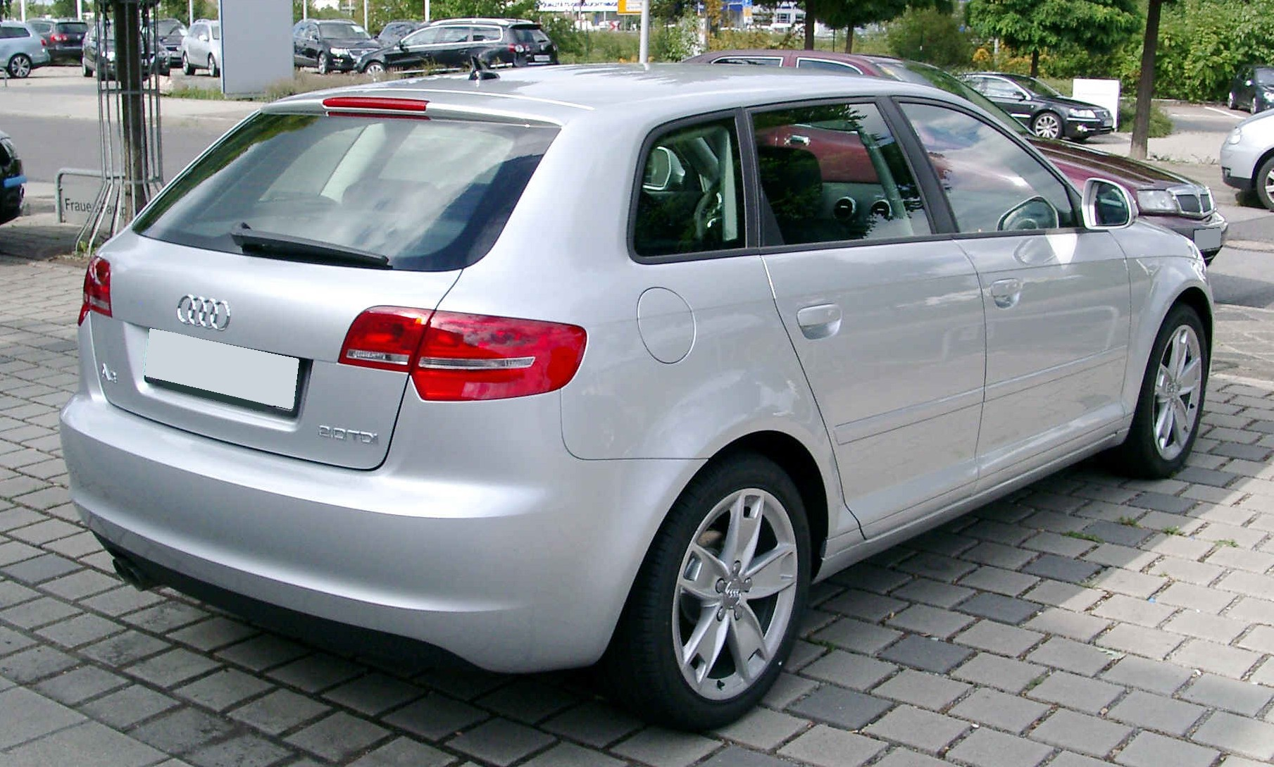 file audi a3 sportback rear wikimedia commons. Black Bedroom Furniture Sets. Home Design Ideas