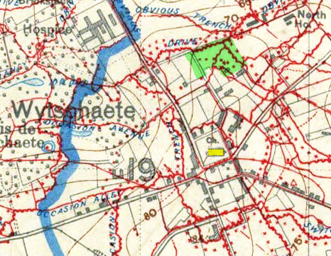 TRENCH MAP OF WYTSCHAETE