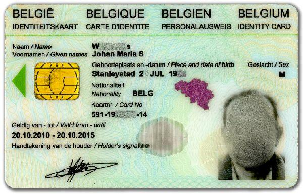 Carte Identite Belgique.Carte D Identite Electronique Wikipedia