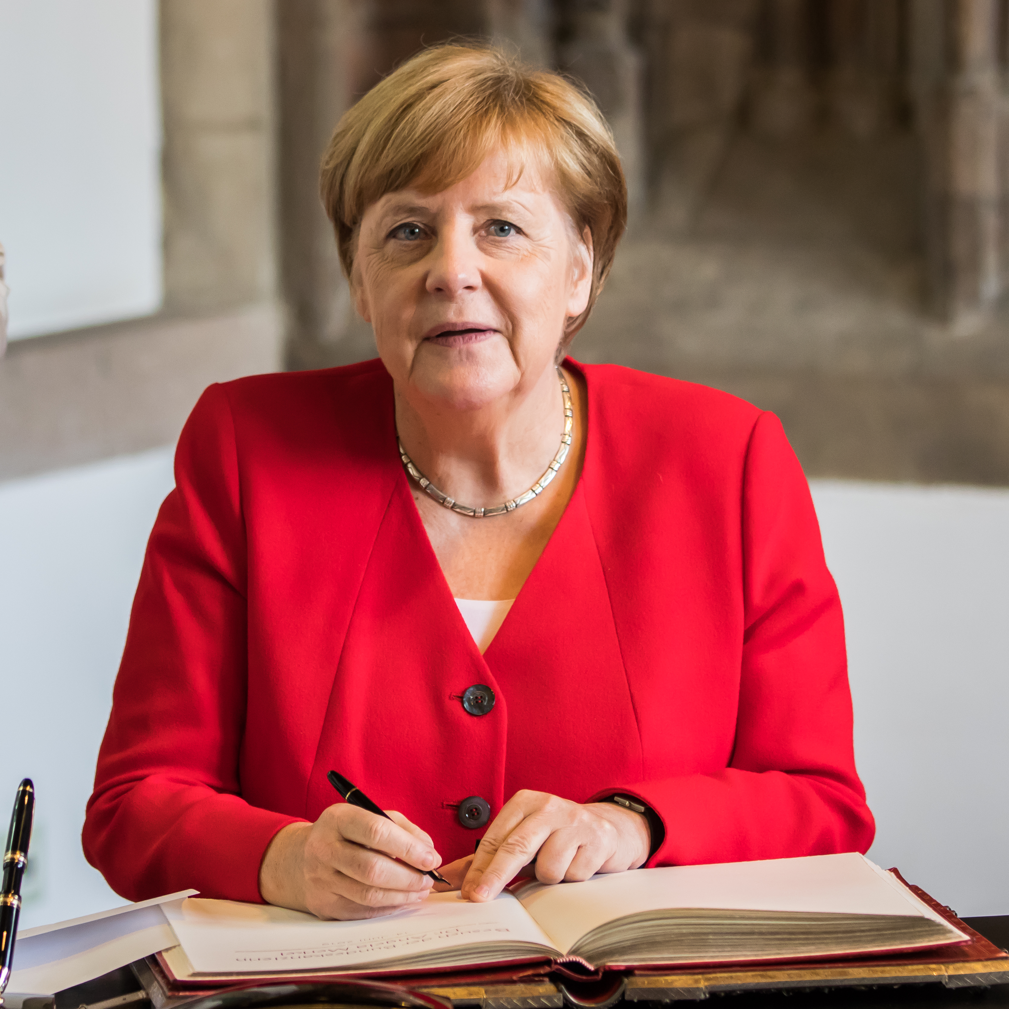 Besuch Bundeskanzlerin Angela Merkel im Rathaus Köln, © Raimond Spekking
